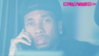 tyga is asked about the kylie jenner breakup hides a new girl in his backseat 41917