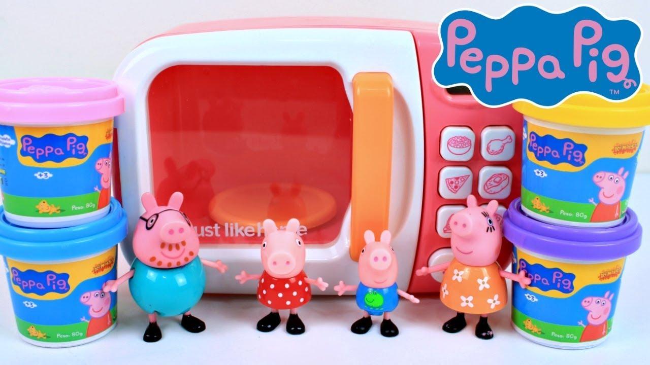 Pig George Da Familia Peppa Pig E O Forninho Microondas Magico De