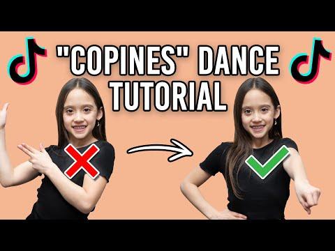 """COPINES"" TikTok Dance Tutorial ❤️💙"