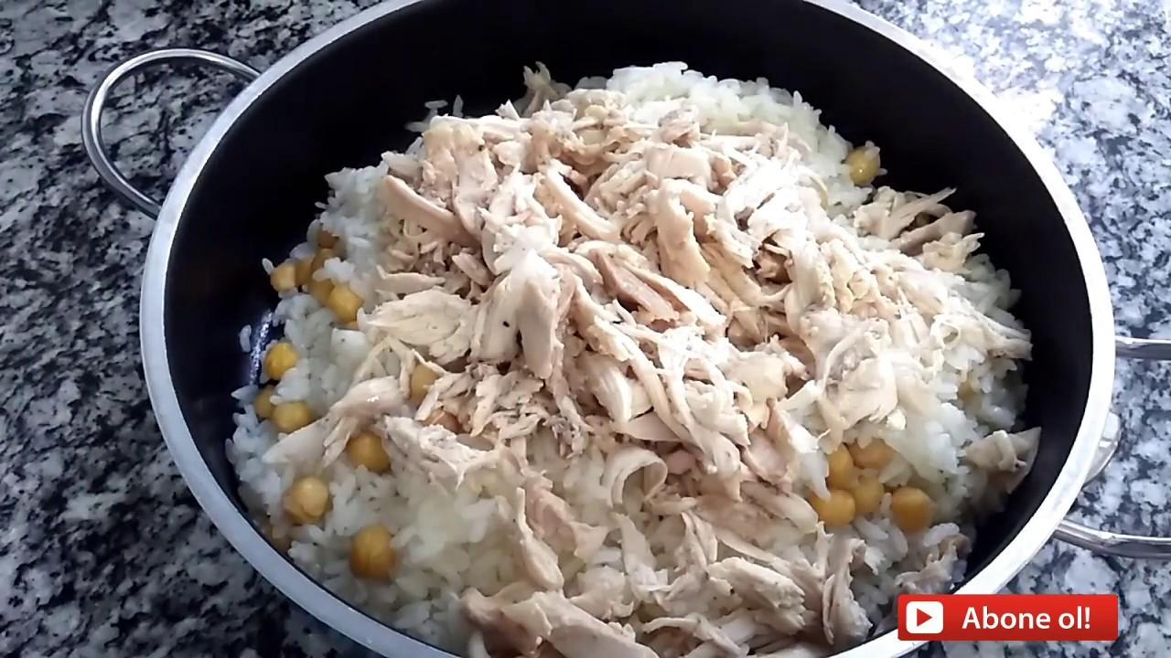 Tavuklu Pilav Nasıl Yapılır-Nohutlu Tavuklu Pilav Tarifi-anne yemek