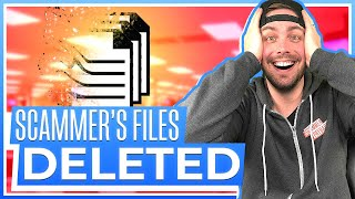 DELETING SCAMMER FILES AS REVENGE FOR THEIR SCAMS