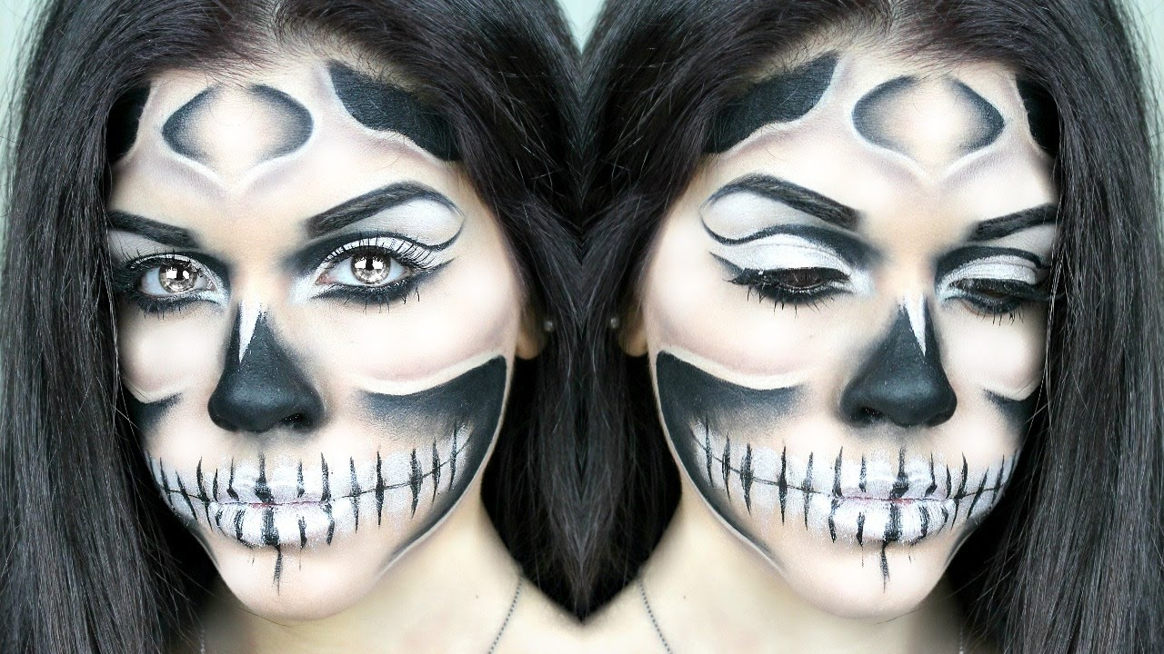 Trucco Halloween Facile.Trucco Scheletro Facile E Veloce Halloween