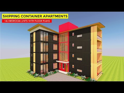 Amazing 8 Apartment Housing Units with Floor Plans Built Using 16 Shipping Containers | MODBOX 3840