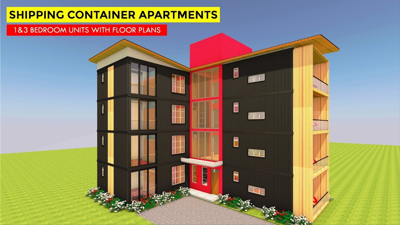 Amazing 8 Apartment Housing Units With Floor Plans Built Using 16 Shipping Containers Modbox 3840