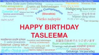 Tasleema   Languages Idiomas - Happy Birthday