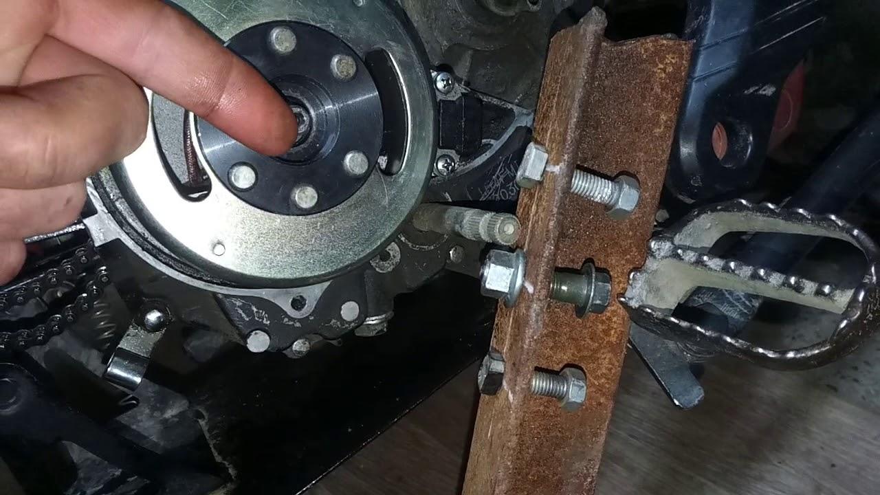 Как снять ротор генератора на Ирбис ттр 125