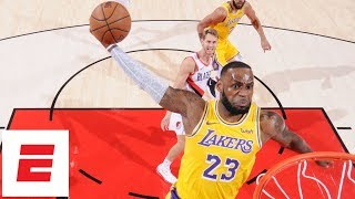 LeBron James makes debut, Lakers lose season opener vs Blazers | NBA Highlights