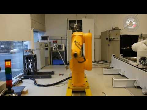 Smooth time-optimal path following of arbitrary long paths with an industrial robot