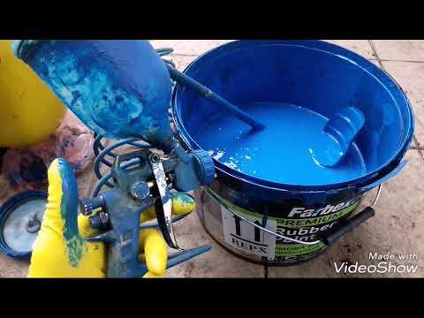 Резиновая Краска!!!! Подготовка к покраске, покраска с использованием пульверизатора.