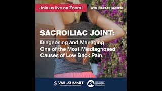 VSON Virtual Discussion: Sacroiliac Joint Pain
