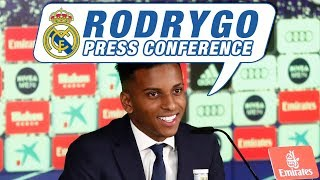 LIVE | Rodrygo's first Real Madrid press conference!