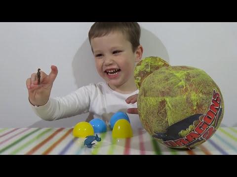Как приручить дракона большое яйцо открываем сюрприз игрушки Giant surprise egg Dragons toys