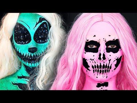 TOP 15 DIY Halloween Makeup IDEAS + 3 GRWM DYI Costumes 2018