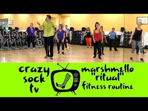 Ritual - Marshmello - EDM Zumba Fitness Routine - Crazy Sock TV