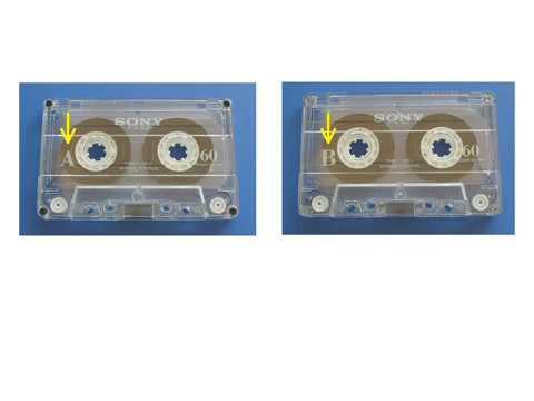 カセットテープのA面とB面/Side A & side B of cassette tape - YouTube