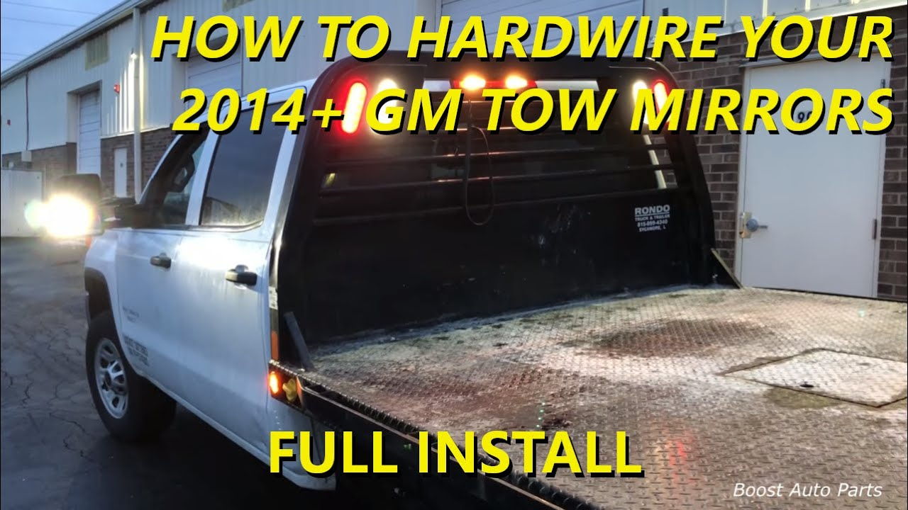 how to hardwire your 2014+ gm tow mirrors from boost auto parts