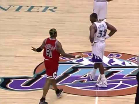 1998 NBA Finals Game 6: Dennis Rodman vs Karl Malone