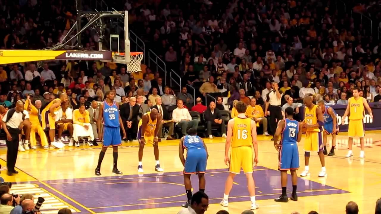 Kobe Bryant Free Throw and then Jumper LA Lakers Vs. OKC Thunder 4-27-10 120dd0d02