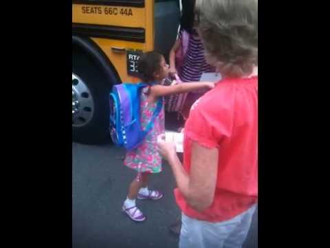 2012 Kiera's 1st day at Hemlock School