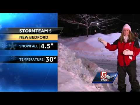 New Bedford picks up several more inches of snow