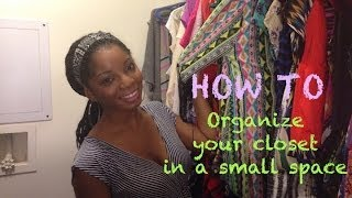 Closet Tour: How To organize your closet in a small space Thumbnail