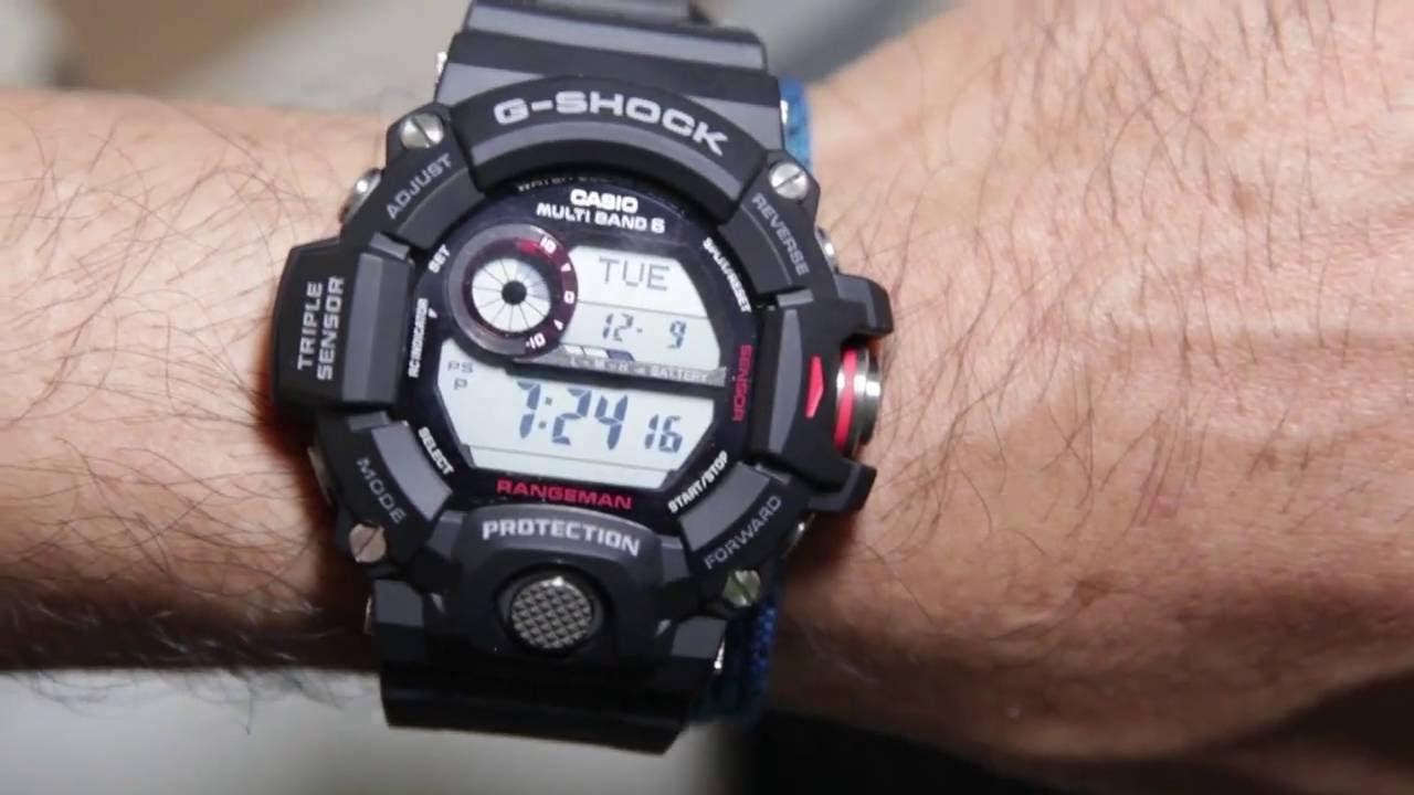 Casio G-shock Rangeman GW-9400-1 - YouTube 7af342035f