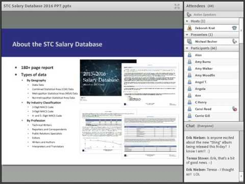 2016 STC Salary Database: Utilizing the Information and Key