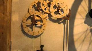 Genesis Wood Gear Clock