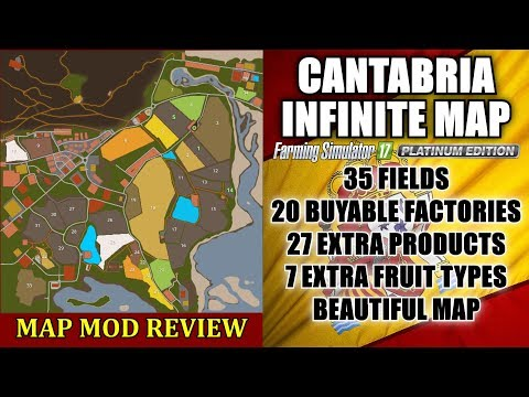"FS17 - Cantabria Infinite Map v1.7.0.2 (Seasons Ready) ""Map Mod Review"