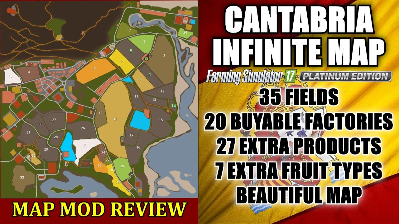 Canadian Map Fs17%0A FS    Cantabria Infinite Map v         Seasons Ready    Map Mod Review