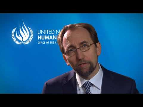 UN High Commissioner for Human Rights Prince Zeid on the 20th ...