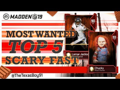 SCARY FAST?!? | Texas Top 5 Predictionss For Most Feared Scary Fast Cards | Madden 19 Ultimate Team