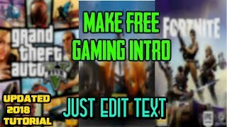 How to make a Gaming Intro For free| PUBG intro| Fortnite intro| COD Intro|in SV Straight To The Point.