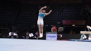 Jorge Vega Lopez (GUA) FX - 2019 Worlds Stuttgart - Podium Training