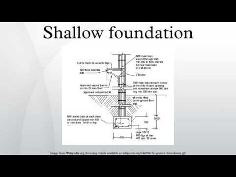 shallow foundation youtube
