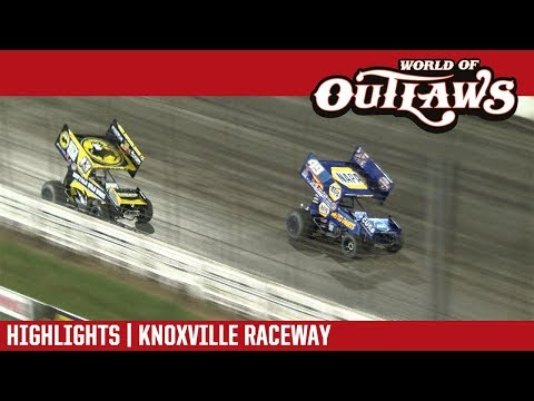 World of Outlaws Craftsman Sprint Cars Knoxville Raceway August 9, 2018 | HIGHLIGHTS