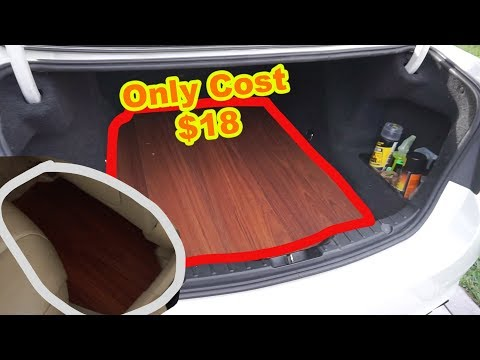 INSTALLING WOOD FLOORING IN MY BMW FOR ONLY $18