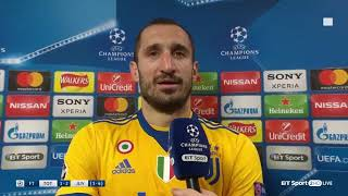 Giorgio Chiellini with a touching tribute to Davide Astori
