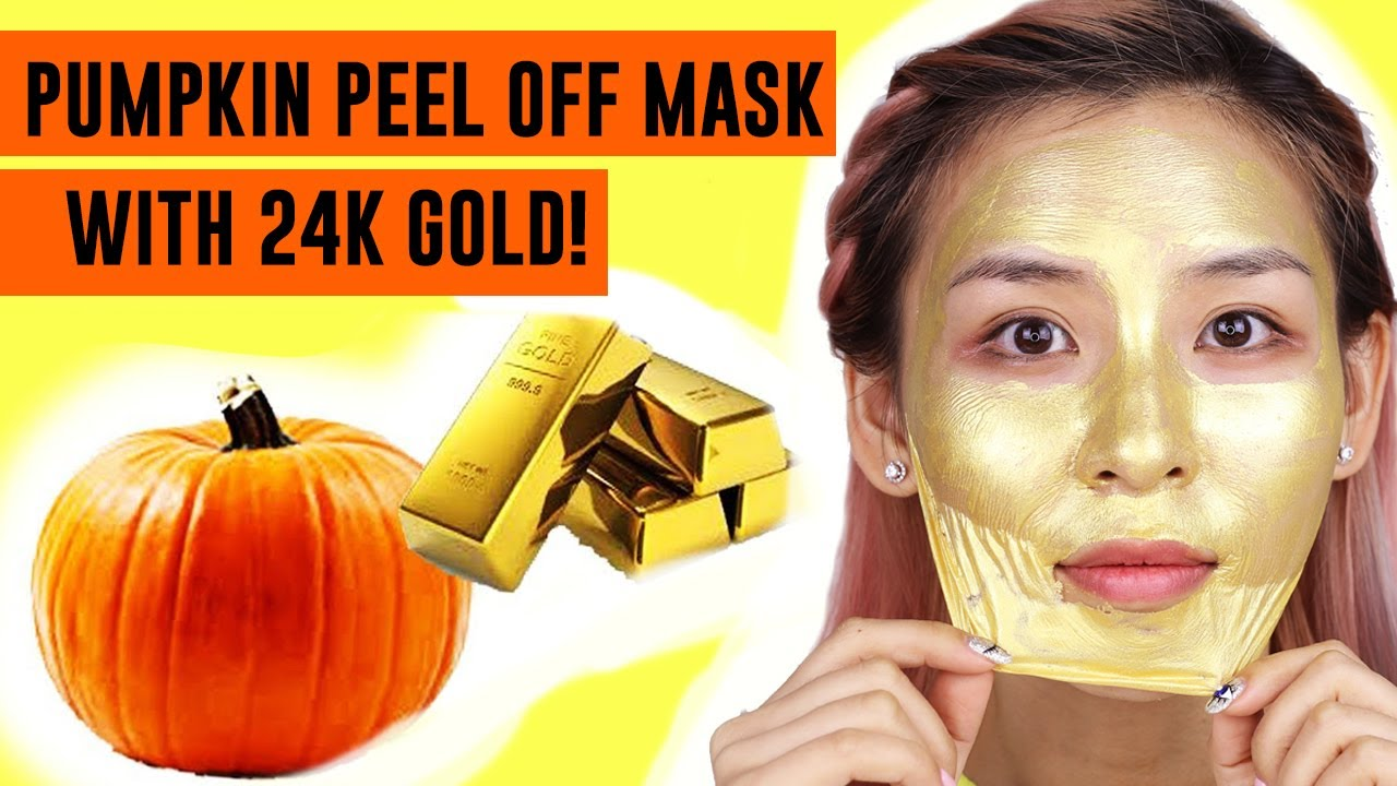 Pumpkin Mask with 24K Gold! TINA TRIES IT