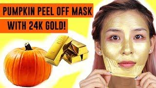 Pumpkin Peel Off Mask with 24K Gold! TINA TRIES IT
