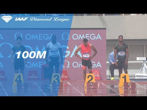 Reece Prescod Wins Men's 100m - IAAF Diamond League Shanghai 2018
