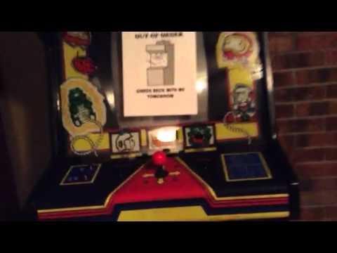 Dig dug arcade machine in my basement - YouTube
