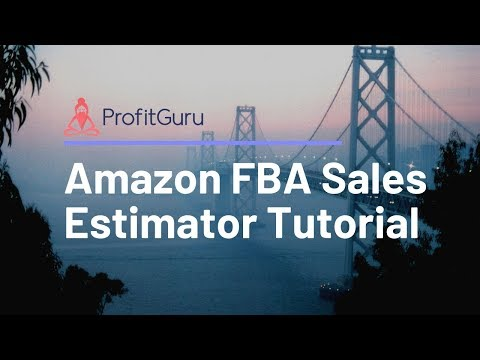 fba sales estimator