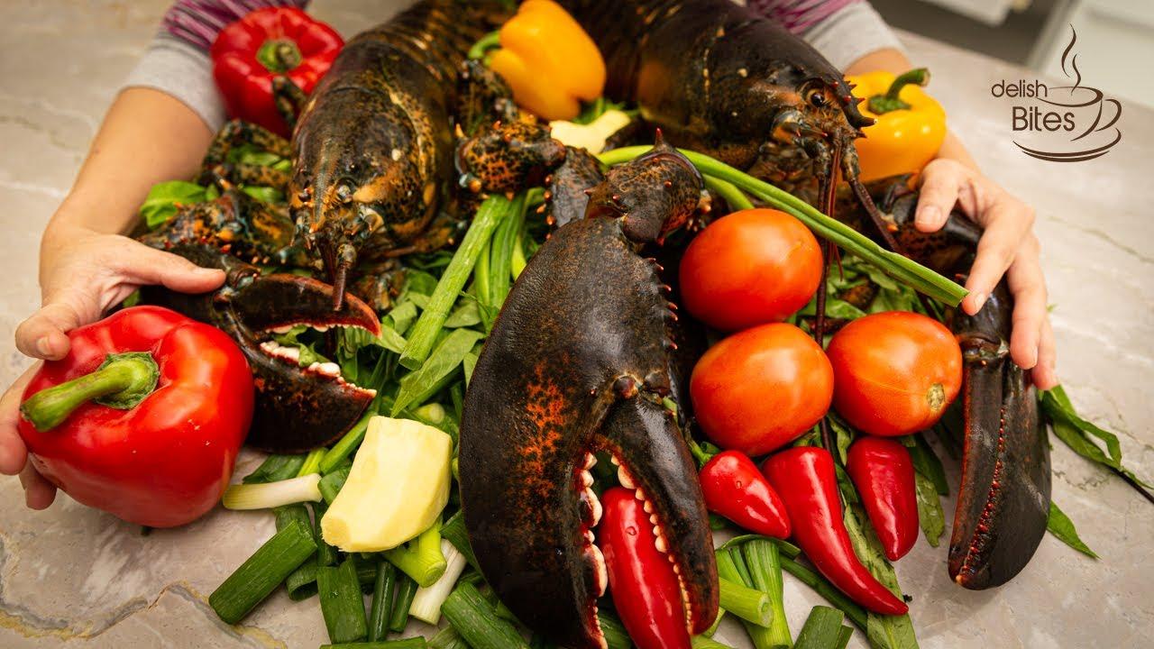 Ginger Scallion Lobster ASMR