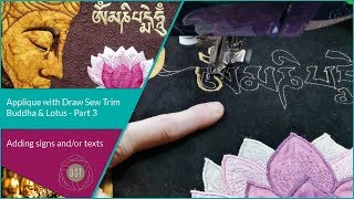 Applique with Draw Sew Trim - Buddha & Lotus - Part 3