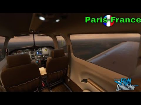 "Airplane White Noise in Cabin | Paris Intl Departure | Sleep Study Focus |""MSFS 2020"" video game"