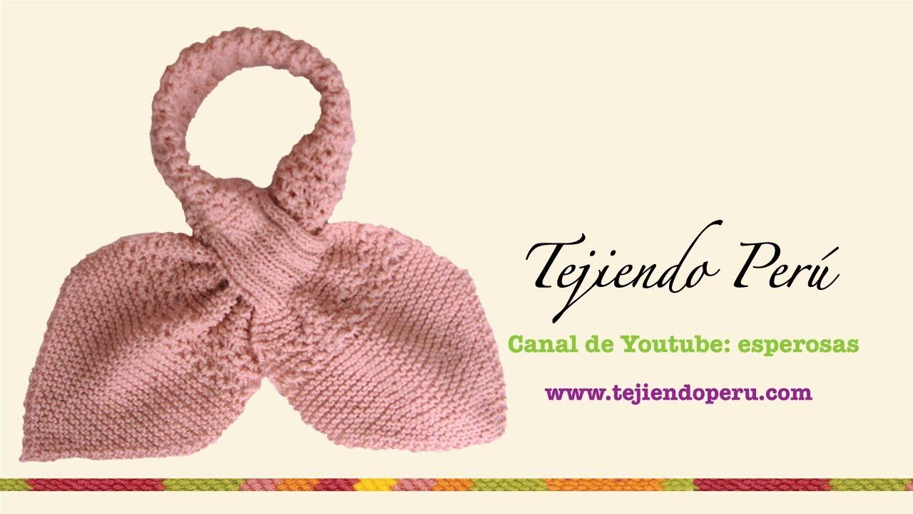 Bufanda gatito en dos agujas (Knitted neck scarf) Parte 1 - Tejiendo ...