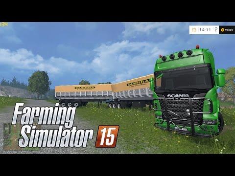 Farming Simulator 15 -VOSGES-  SCANIA TOP +  Bi-Trem Top Mod Loko D+