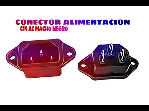 Video de Conector de alimentacion C14 AC macho  Negro 10 A