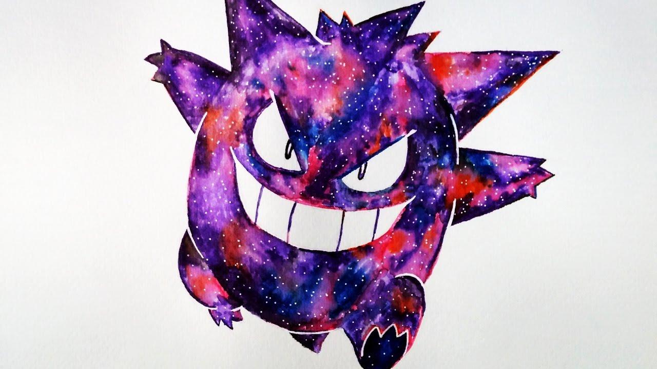 Cómo Colorear a Gengar Efecto Galaxia | Pokemon | Muy Fácil ...